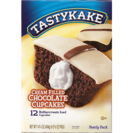 Tastykake Cream Filled Chocolate Cupcakes