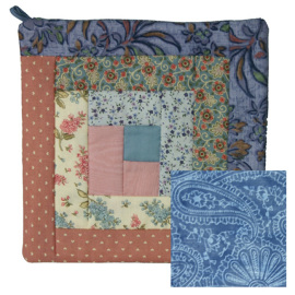 Blue and Rose Potholder