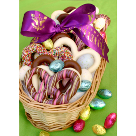 Easter Chocolate Pretzel Sampler Basket
