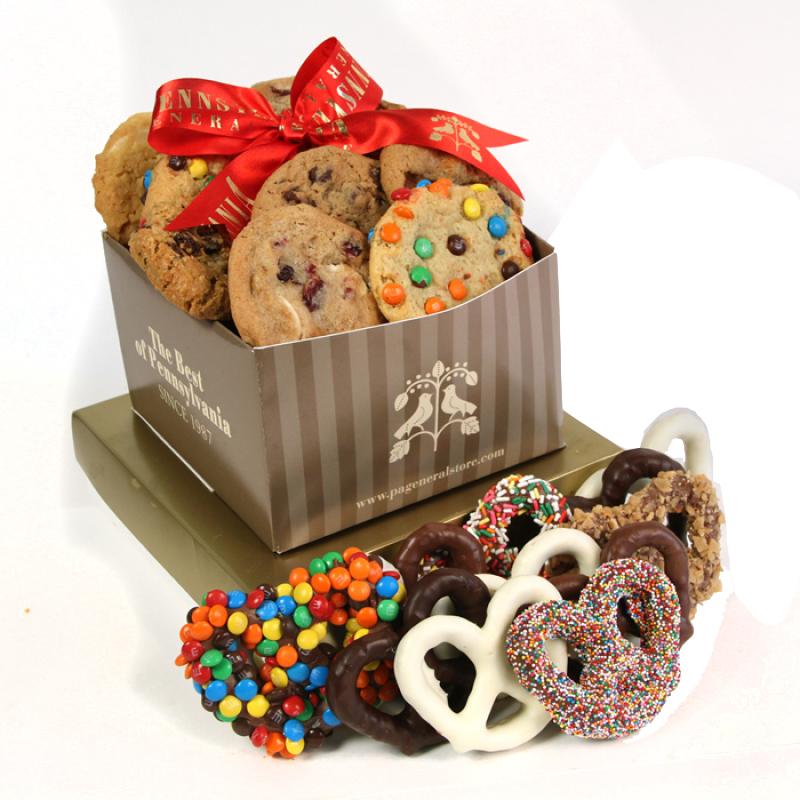 Chocolate Pretzel & Cookie Sampler