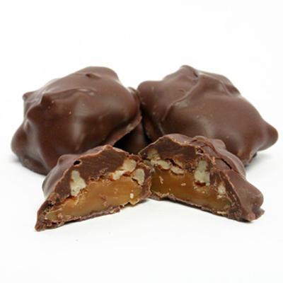 1 lb. Mk Chocolate Cashew Caramel Patties