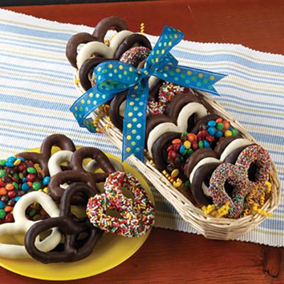Mother's Day Chocolate Pretzel Sampler Basket