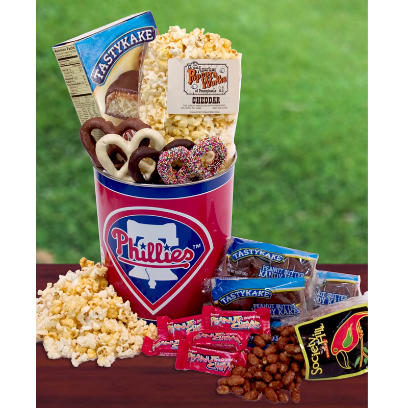 Philadelphia Phillies Fan Snack Tin