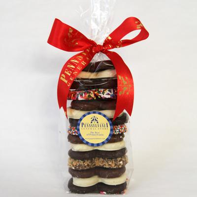 Chocolate Pretzel Gift Bag 15 pc