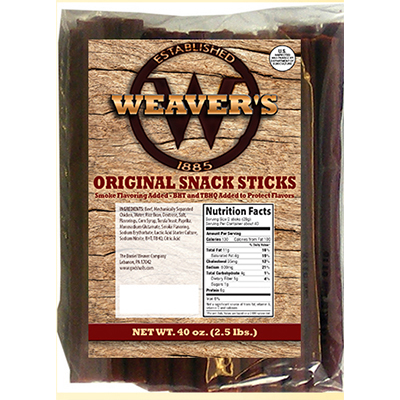 Weaver's  Original Snack Sticks - 2.5 lbs.
