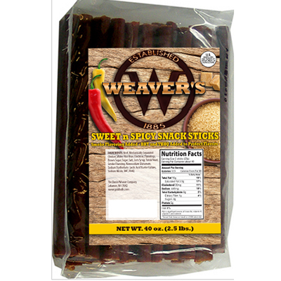 Weaver's Sweet & Spicy Snack Sticks - 2.5 lbs