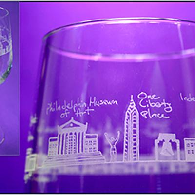 Philadelphia Red Wine Glass