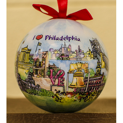 Phila Watercolor Ornament