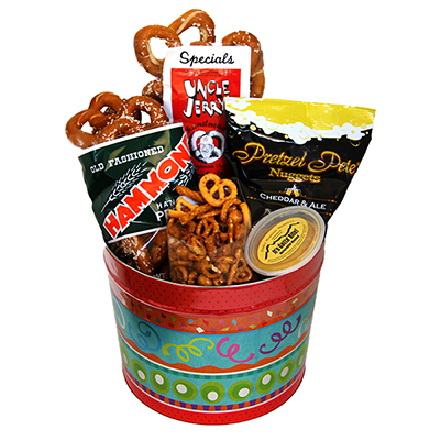 PA Pretzel Party Tin