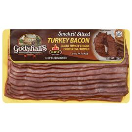 Godshall's Maple Turkey Bacon, 3-12 oz packages