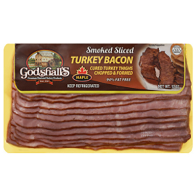 Godshall's Maple Turkey Bacon, 3-12 oz packages