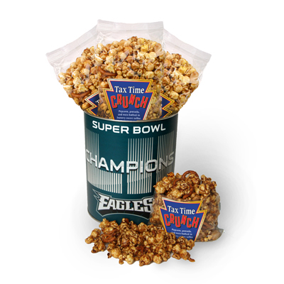Super Bowl Champs Tax Time Crunch Tin