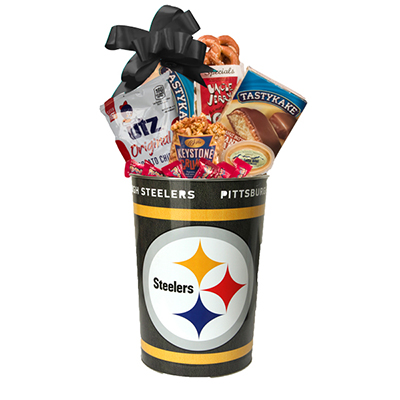 Sports Lover's Steeler's Gift Basket