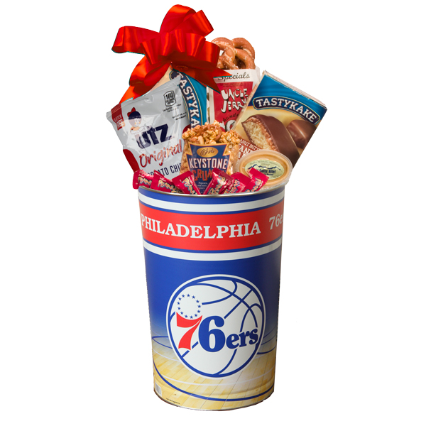 Philly Sport Lover's 76ers Gift Basket