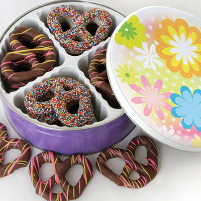 Easter ChocolatePretzel Tin