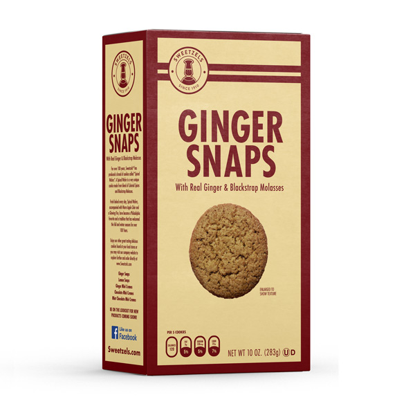 Sweetzels Ginger Snaps, 10 oz.