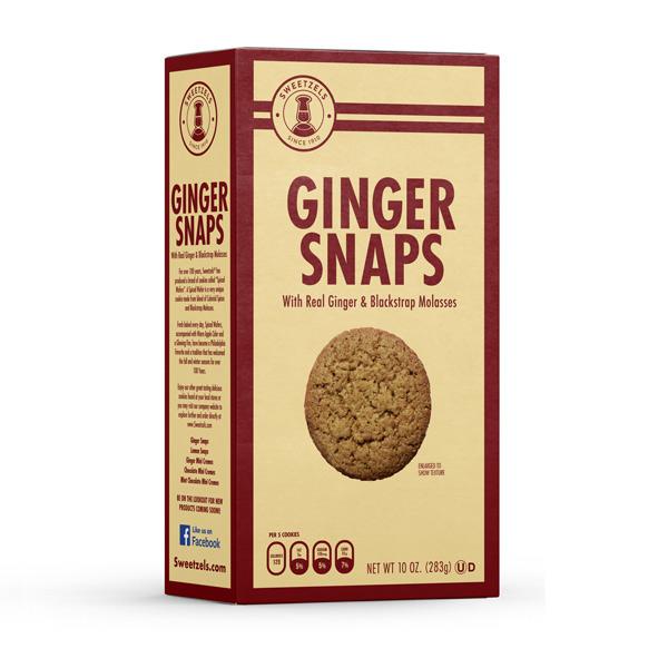 Sweetzels Ginger Snaps, 15/10 oz.