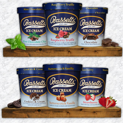 Bassetts  Ice Cream <br>6 Pint Assortment
