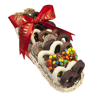 Chocolate Pretzel Sampler Basket