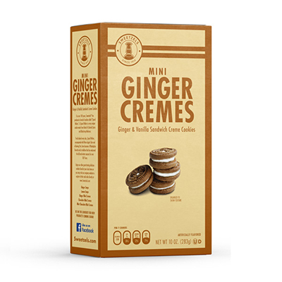 Sweetzels Ginger Mini Cremes, 10 oz.