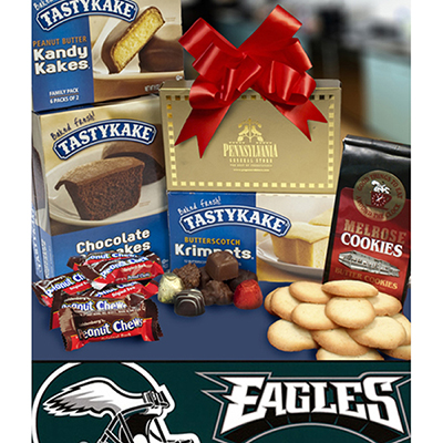 Philly Tower of Treats plus Eagles Bumper Sticker