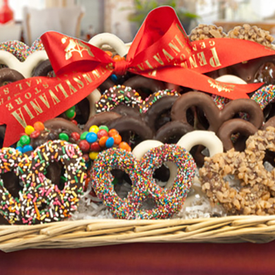 Chocolate Pretzel Tray, <br>2 lbs.
