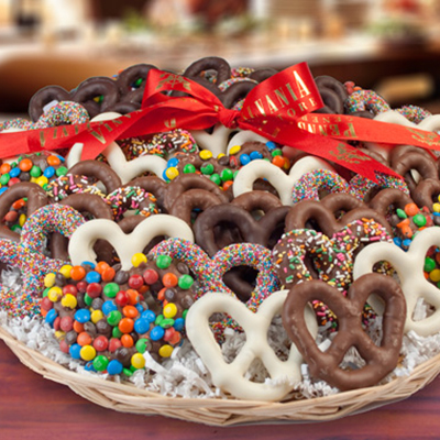 Chocolate Pretzel Tray, <br>3 lbs. 10 oz.
