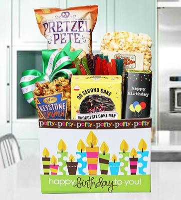 Birthday Cake Party Box w Chocolate Cake Kit