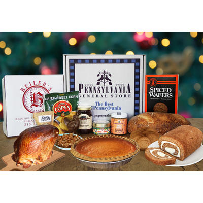Holiday Essentials Gift Box with Smoked Turkey Breast & Pie