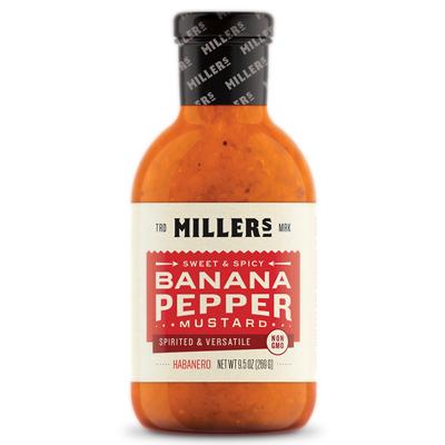 Miller's Habanero Mustard, 9.5 oz