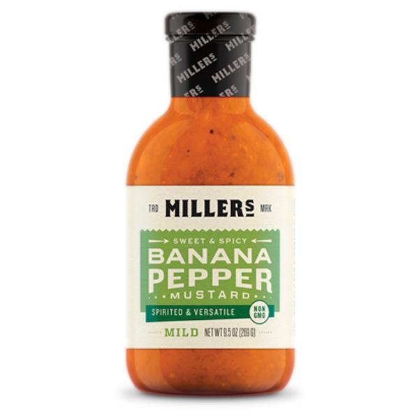 Miller's Mild Banana Pepper Mustard, 9.5 oz