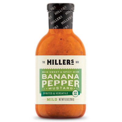Miller's Mild and Sweet Mustard, 9.5 oz