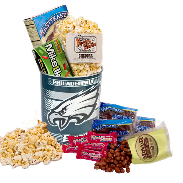 Philadelphia Eagles Fan Snack Tin- Heat Safe