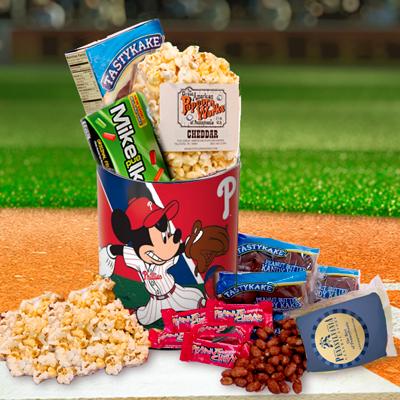 Philadelphia Phillies Mickey & Minnie Snack Tin- Summer Version