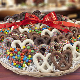 Chocolate Covered Pretzel Trays