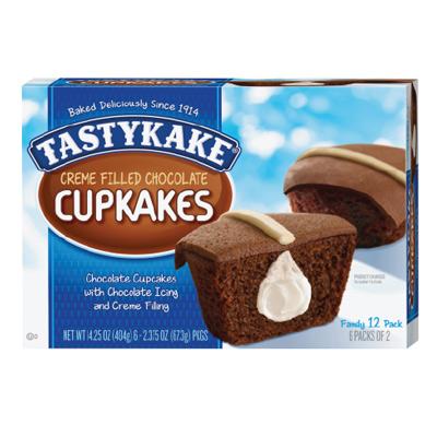 Tastykake Chocolate Cupcake w Creme Filling