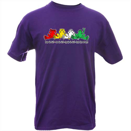 Peace Frogs Adult Have More Peace Short Sleeve T-Shirt