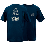 Peace Frogs Keep Calm and Spread Peace Short Sleeve T-Shirt