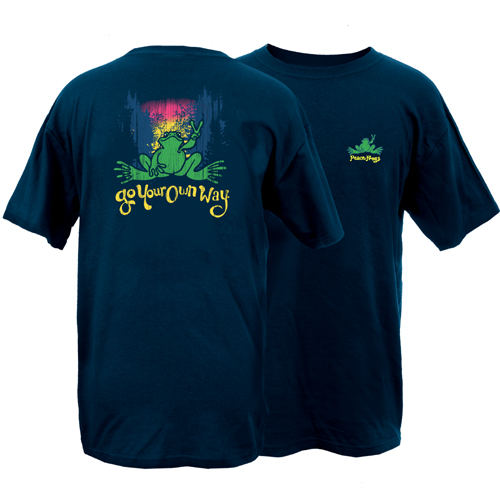 Peace Frogs Go Your Own Way Frog Short Sleeve T-Shirt