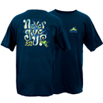 Peace Frogs Never Give Up Frog Short Sleeve T-Shirt