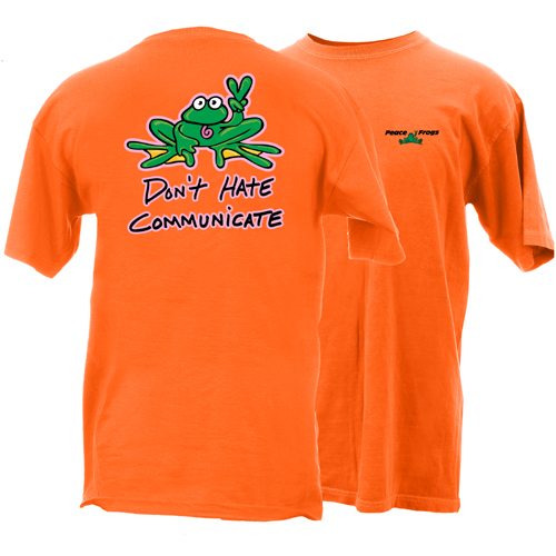 Peace Frogs Cootie Don't Hate Frog Short Sleeve T-Shirt
