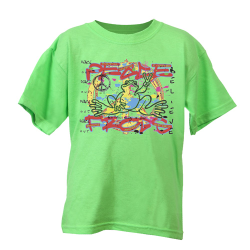 Peace Frogs Kids Graffitti Short Sleeve T-Shirt