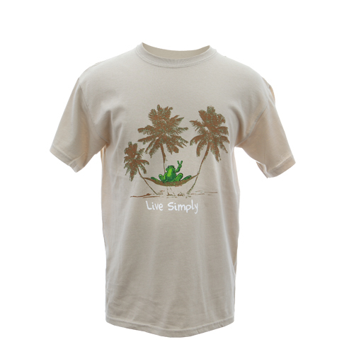 Peace Frogs Adult Live Simply Hammock Frog Short Sleeve T-shirt