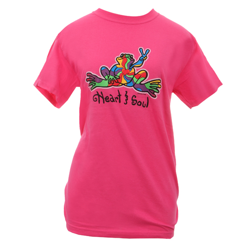 Peace Frogs Adult Heart and Soul Frog Short Sleeve T-Shirt