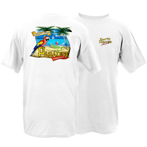 Peace Frogs Adult Paradise Found Short Sleeve T-Shirt