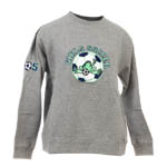 Peace Frogs Junior Gray Girls Soccer Embroidered Pullover Sweatshirt