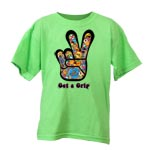 Peace Frogs Get A Grip Short Sleeve Kids T-Shirt