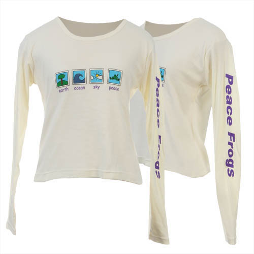 Peace Frogs Junior Cream Elements Long Sleeve T-Shirt