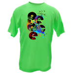 Peace Frogs Adult Modern Peace Frogs Short Sleeve T-Shirt