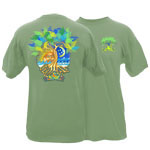 Peace Frogs Adult Sun Moon Tree Short Sleeve T-Shirt